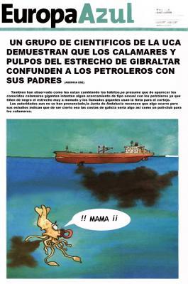 El presidente de la A.G.I. Alarcón comentó a Mercedes Milá que el paso de 90.000 barcos anuales por el Estrecho, más de 200 diarios, pueden tener una incidencia negativa en el medio ambiente de la zona por el poco o nulo control que se hacen de sus vertidos.